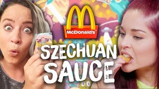 McDonald's Rick and Morty Szechuan Sauce TASTE TEST! (Cheat Day)