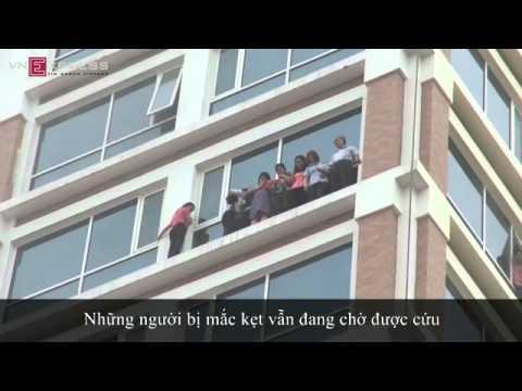 Video clip Cháy tòa nhà 18 tầng của Tổng cục Hải quan
