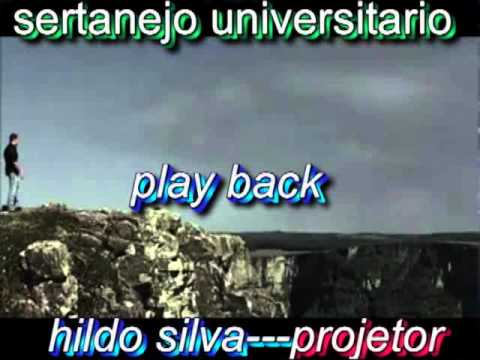 PLAY BACK Sertanejo Universitario Gospel Cantor Hildo Silva Cd Solo.wmv