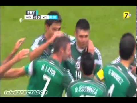 MEXICO vs NUEVA ZELANDA   Repechaje Rumbo a Brasil 2014   Martinoli se 'moja' con Oribe TV AZTECA