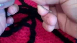 Tutorial-Spiderman Beanie (Part-6).