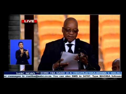 SA President Jacob Zuma pays homage to Madiba
