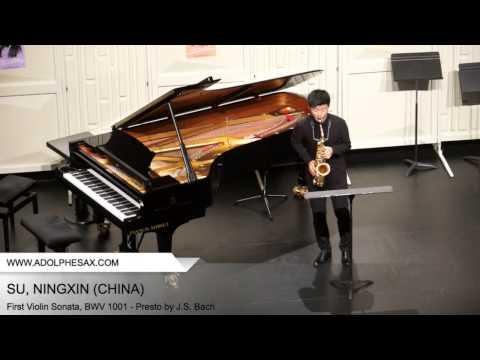 Dinant 2014 SU Ningxin First Violin Sonata, BWV 1001 Presto by J S Bach