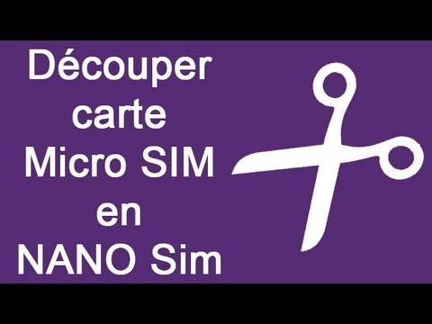 D couper carte micro sim en nano sim tutoriel iphone 5 5s 5c htc youtube - Couper une micro sim en nano sim ...
