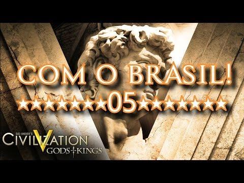 CIVILIZATION V com o Brasil - Grande jogo
