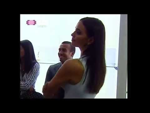 Irina Shayk at the Museum of Cristiano Ronaldo