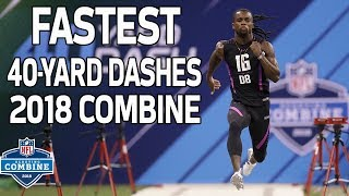 The Fastest 40-Yard Dash Times of 2018! | NFL Combine Highlights