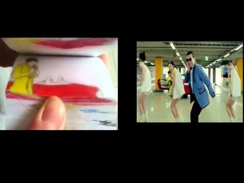 Psy-Gangnam Style hoạt hình vs gangnam style video
