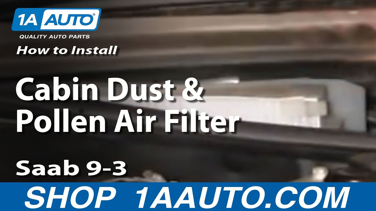 How To Install Replace Cabin Dust and Pollen Air Filter    Saab       9      3    0307 1AAuto  YouTube