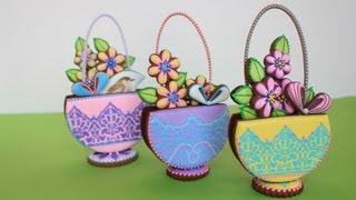 How To Make 3-D Stenciled Cookie Baskets