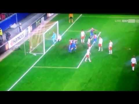 Salzburg vs Basel 1:2.      Streller