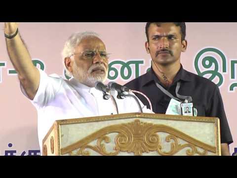 Shri Narendra Modi addressing 'Bharat Vijay Rally' in Coimbatore, Tamil Nadu HD