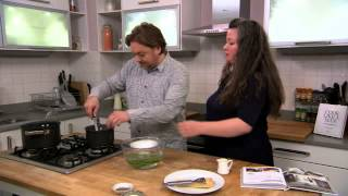Battle of the pans: cooking contestants Pete Brown and Niamh Shields