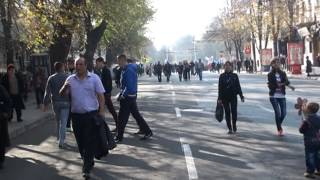 Manifestanții se grăbeau să plece de la demonstrație