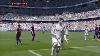 Ronaldo scoort een Rabona vrije trap in FIFA 15...