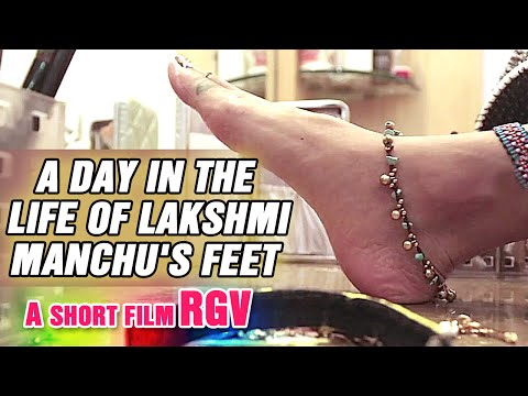 A day of in the life of Lakshmi Manchu's feet