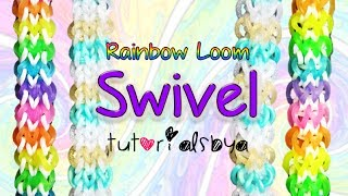 NEW REVERSIBLE Swivel Rainbow Loom Bracelet Tutorial How
