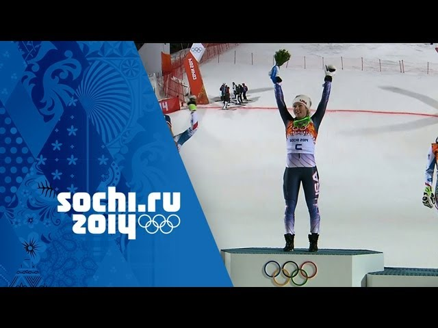 Alpine Skiing - Ladies' Slalom - Run 2 - Shiffrin Wins Gold | Sochi 2014 Winter Olympics