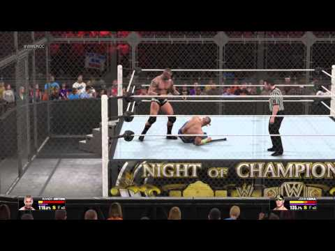 RANDY ORTON VS JOHN CENA HELL IN THE CELL [WWE 2K15]