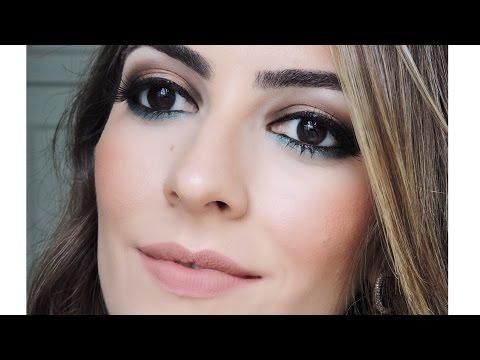 Maquiagem neutra com toque turquesa - Casamento fora de BH - Get Ready With Me