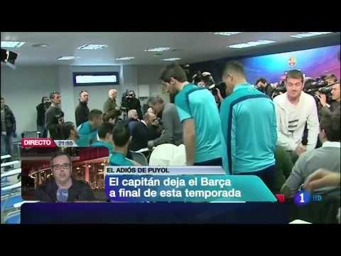 PUYOL anuncia que abandona el FC BARCELONA en junio 2014
