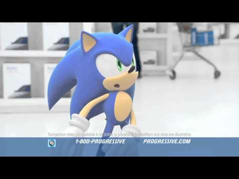 Progressive Insurance - Sonic The Hedgehog, Sonic The Hedgehog in the progressive Insurance Commercial