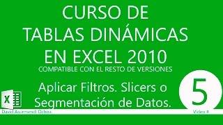Tablas Dinámicas En Excel 2010: Filtrar Datos
