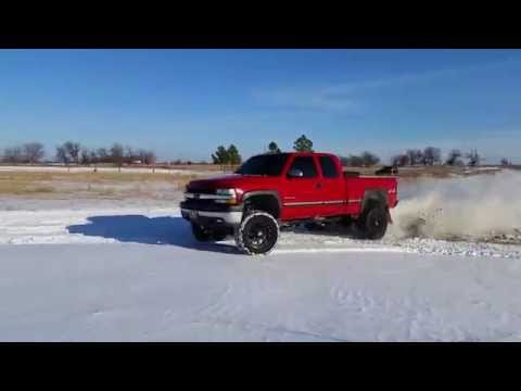 Lifted Chevy 2500hd Snow Donuts