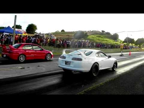 """Do the Maths"" Crazy Toyota Supra vs Yousef Mitsubishi Evolution 9"