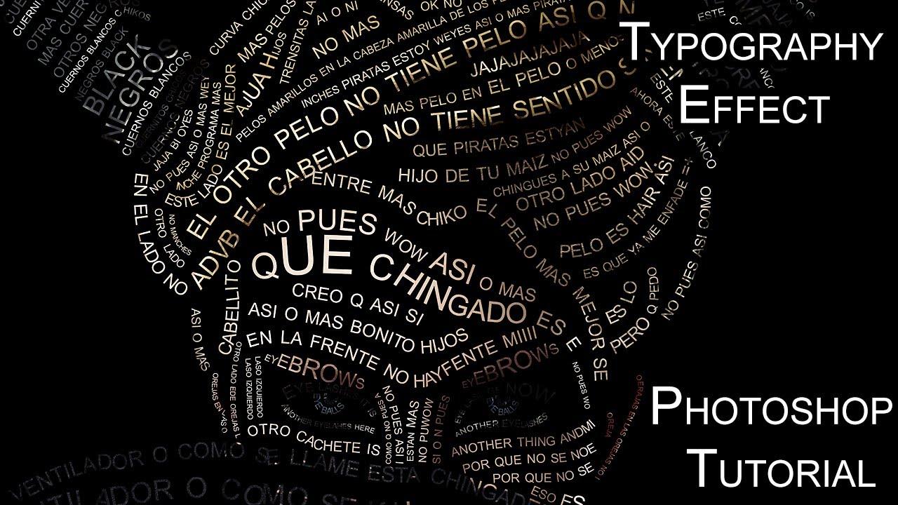 typography effect photoshop tutorial youtube