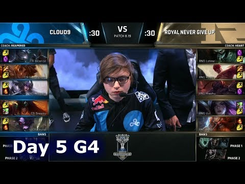 C9 vs RNG | Day 5 Group Stage S8 LoL Worlds 2018 | Cloud 9 vs Royal Never Give Up