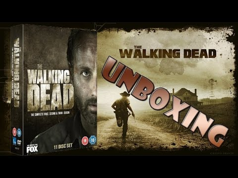 The Walking Dead Seasons 1, 2, & 3 Unboxing!