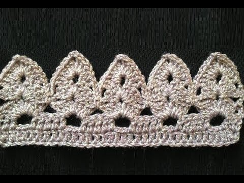 How to Crochet the Edge / Border Stitch Pattern #13 by ThePatterfamily