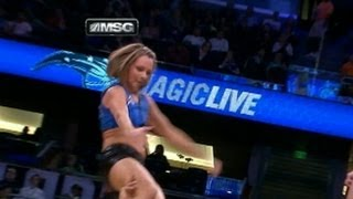 NBA Cheerleader Falls on Her Head During Orlando Magic Game: Caught on Tape view on youtube.com tube online.
