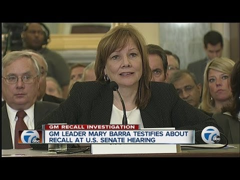 GM CEO Mary Barra testifies about recall at Senate hearing