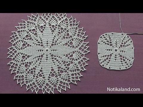 Crochet How to crochet doily Part 2   6 - 8 round    Crochet doily rug tutorial