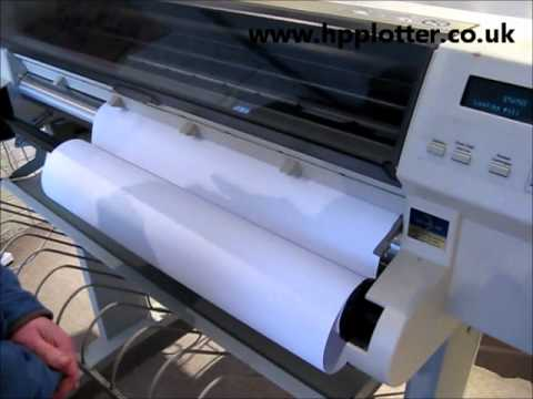 Designjet 700/750C/755CM Series - Loading paper/media  roll on your printer