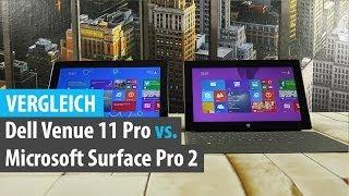 Vergleich: Dell Venue 11 Pro Vs. Microsoft Surface Pro 2