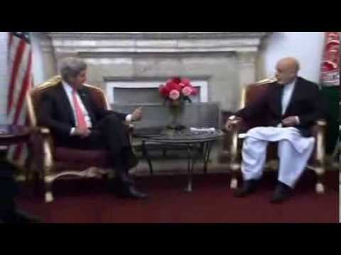 Kerry Meets Karzai in Kabul to Press For Security Deal '1 Has A Watch, 1 The Time!!'