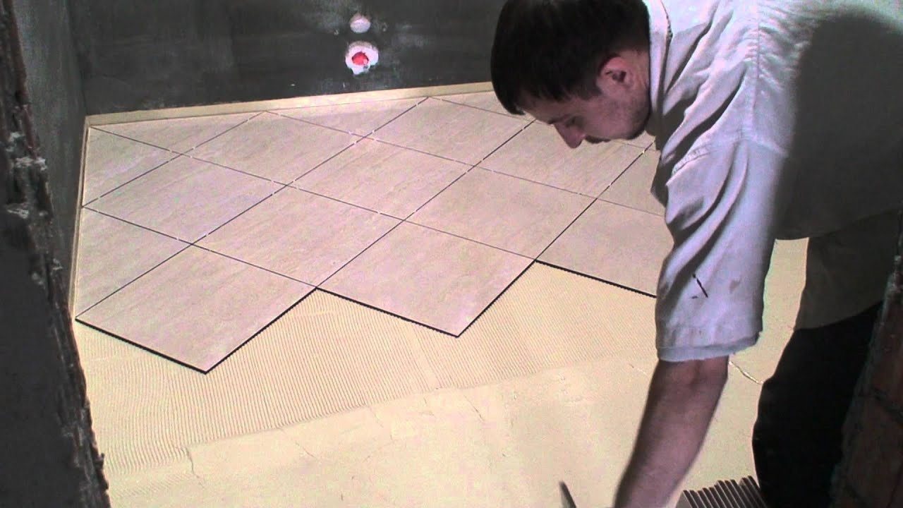 How to lay a ceramic tile floor