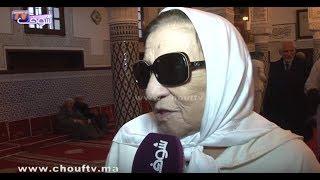 بالفيديو..أول ظهور للفنانة أمينة رشيد بعد وفاة زوجها في قلب ضريح بسلا |
