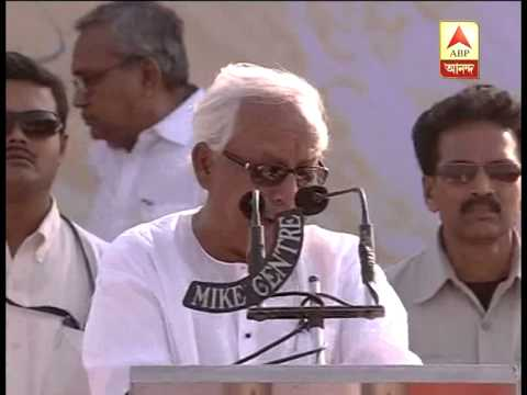 Buddhadeb Bhattacharya criticizing Narendra Modi and his model
