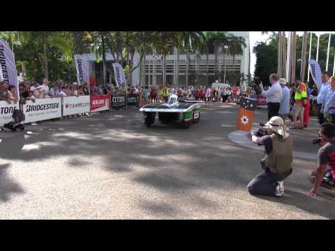 World Solar Challenge 2013 (world solar car race) Starting From Darwin, Australia, on Oct. 6, 2013