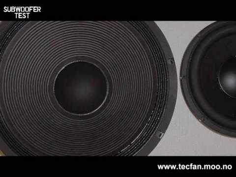 Bass / Subwoofer speaker test