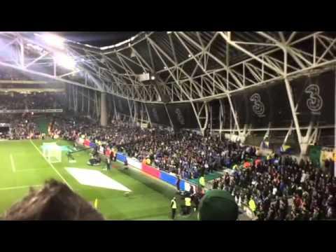 Bosnian fans breaking moment of silence