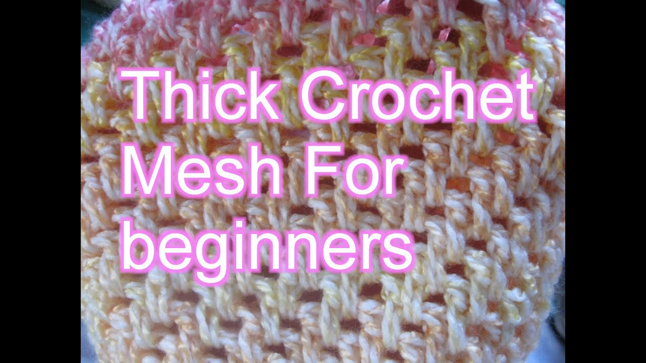 Crochet Stitches Mesh : Thick crochet Mesh / Brick Stitch - Slow Motion Crochet - YouTube
