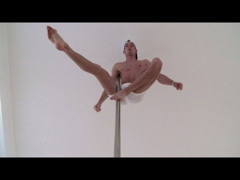 El acróbata del pole dance