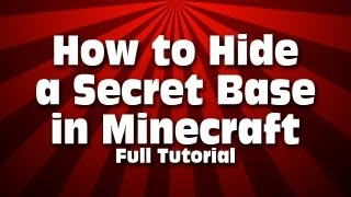 Best Way To Hide A Secret Base In Minecraft Full