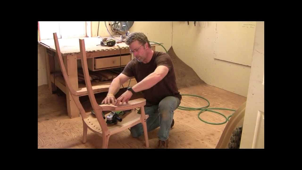 Building an Maloof inspired Elegant Rocking Chair - Shaping the Arms ...