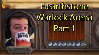 Hearthstone: Warlock Arena with Wowcrendor (Closed Beta Gameplay) Part 1
